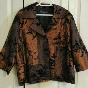 Susan Graver Style Blazer Velvet Embossed